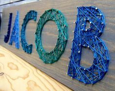 Modern String Art Wooden Name Tablet - 5 Buchstaben