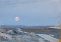 Landscape from Stenbjerg with moon P.S. Krøyer1889