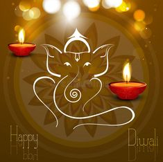 Beautiful card colorful Artistic Lord Ganesha royalty free illustration Diwali Wishes, Happy Diwali, Lord Ganesha, Free Illustrations, Royalty, Colorful, Candles, Artist, Beautiful