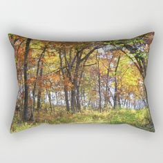 Autumn Woods Rectangular Pillow by Inspired Arts-Society6 #manly #masculine #mangift #giftsformen #hunting #hunter #christmasgifts #xmasgifts #xmasgiftsformen #spouse #hubby #boyfriend #fiancé #outdoorsy