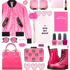 How To Wear PINK FUN Outfit Idea 2017 - Fashion Trends Ready To Wear For Plus Size, Curvy Women Over 20, 30, 40, 50