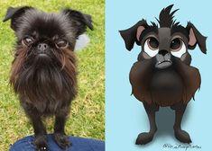 """Perros y gatos """"Disney-ficados"""", zampables retratos animales que también sirven para fomentar la adopción Gatos Disney, Teddy Bear, Toys, Life Humor, Urban, Portraits, Dogs, Animales, Illustrations"""