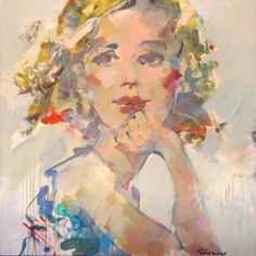 Artiste: Schirmer, André Dimensions: 40 x 40 po Titre: Raconte-moi  Style: Contemporain Sujet: Figuratif Galerie: STA