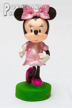Minnie En Porcelana Fria - Adorno Para Torta 20 Cm - $ 399,00 en MercadoLibre