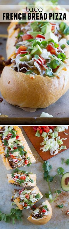 No Bake: Taco French Bread Pizza - Taste and Tell