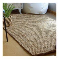 Alfombra natural de yute 100% con un trenzado grueso de 3500 g/m2. Una alfombra cálida y acogedora de 120 cm de ancho y 180 cm de largo.