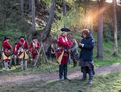 Blast from the past: Redcoats vs Tartans at halftime. @Outlander_Starz #outlander @Heughan