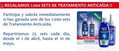 ¡Llévate uno de los 25 sets anticaida que NaturVital regala cada día!  Promoción válida sólo para España hasta 10/05/2014.  Más información aquí: http://www.baratuni.es/2014/04/muestras-gratis-sets-anticaida-naturvital.html  #muestrasgratis #gratis #baratuni #cosmeticos