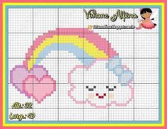 1 million+ Stunning Free Images to Use Anywhere Unicorn Cross Stitch Pattern, Baby Cross Stitch Patterns, Cat Cross Stitches, Cute Cross Stitch, Bead Loom Patterns, Cross Stitching, Cross Stitch Embroidery, Hello Kitty Wallpaper, Christmas Cross