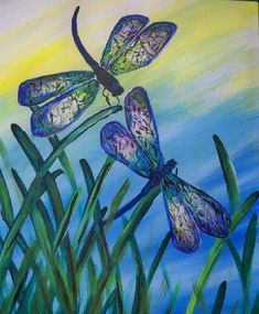 This Wednesday March 20th 6:30-9pm  at The Cellar Door...    Fluttering in the morning breeze, two dragonflies dance in the morning dew. Sip some hot java, and watch them play, or just paint them and enjoy them anytime, anywhere.    $30 for individuals  OR  Bring 1 guest - you each pay $25  Bring 2 guests - you each pay $20  Bring 3 or more guests - you each pay $20 AND you will receive a BONUS GIFT FREE!!    Call 832-230-4945  or  281-391-4325  to book your reservations
