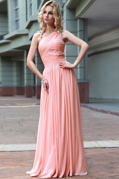 $199.99 2016 Awesome Prom/Evening Dresses One Shoulder A Line ...