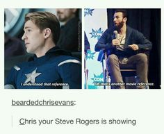 His Steve is showing.