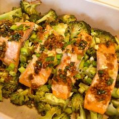 Baked Salmon & broccoli in Asian style - click here for the recipe :)