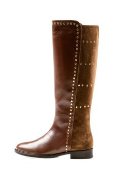 Leather & Suede Boot - this would be perfect with silver detail instead of gold