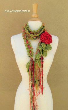 Fular flor roja
