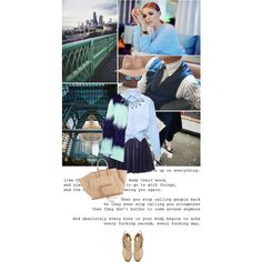 """""""girl with a fur coat"""" by aerirei on Polyvore Coat: http://getthelooks.com.au/striped-fur-coat-with-colour-contrast"""