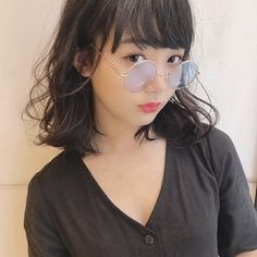 【HAIR】Kohe Kamijoさんのヘアスタイルスナップ(ID:411744) Kamijo, Round Sunglasses, Sunglasses Women, Hair, Fashion, Moda, La Mode, Fasion, Fashion Models