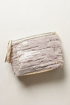 Geneva Fur-Laced Cosmetic Pouch #anthropologie