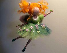 Naald vilten fairy Waldorf geïnspireerd Home decor door DreamsLab3