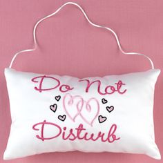 'Do Not Disturb' Door Hanger from Wedding Favors Unlimited