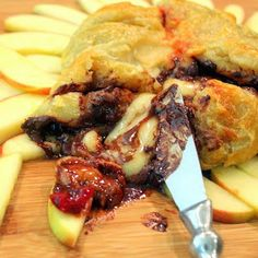 Inspired By eRecipeCards: Baked Brie with Cherries and Chocolate - 52 Church PotLuck Appetizer (or Dessert)