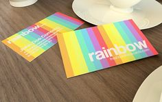 Collection of Top 12 Free Photoshop Business Card Templates - Rainbow Business Card