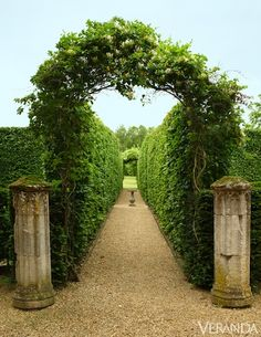 Historic French Garden The ruins of a French monastery inspire a lush and opulent fantasy of a garden design by Levy-Alban. Formal Gardens, Outdoor Gardens, Amazing Gardens, Beautiful Gardens, Beautiful Beautiful, Landscape Design, Garden Design, The Secret Garden, French Style Homes
