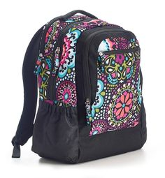 Kaleidoscope Backpack by Studio C.  Black, bright and juicy all over!  Limited quantities available of this backpack from the Kaleidoscope collection.  #backpack #colorful #backtoschool