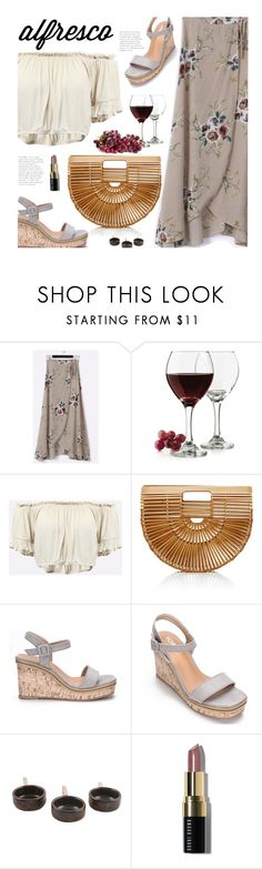 """""""Easy Breezy: Yoins Alfresco Dining"""" by beebeely-look ❤ liked on Polyvore featuring Libbey, Cult Gaia, NOVICA, Bobbi Brown Cosmetics, brunch, summersandals, yoinscollection, alfrescodining and brunchgoals"""