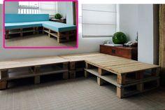 DIY γωνιακός καναπές από παλέτες