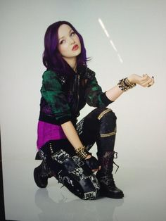 Mal from Disney descendants played by dove Cameron
