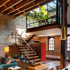 Tribeca loft on the top floor and roof of an 1884 caviar warehouse reconceived as an open residence with a fluid connection to the outdoor environment. by new york based andrew franz architects