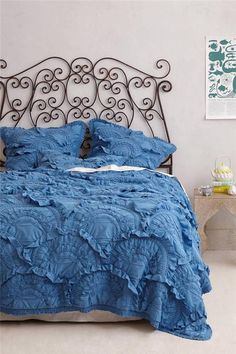 New Anthropologie Rivulets Quilt Twin Wedgewood Blue Comforter NIP #Anthropologie found on ebay for $150