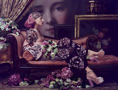 """Aveda """"Sublime Spirit"""" fall '15 campaign. Fine art meets modern day makeup in a stunning campaign - Fashionising.com"""