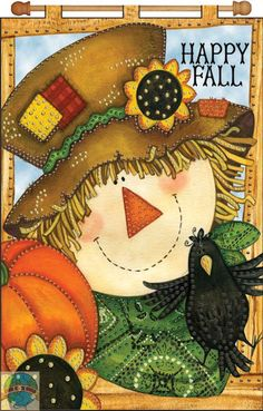 Happy Fall fall happy autumn happy fall happy fall quotes Scarecrow Painting, Autumn Painting, Autumn Art, Tole Painting, Fall Paintings, Halloween Crafts, Holiday Crafts, Colchas Quilting, Decoupage