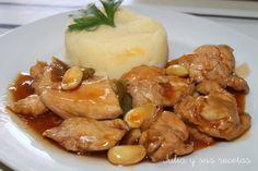 Pollo con almendras, pollo recetas de pollo chino, recetas orientales de pollo, Julia y sus recetas