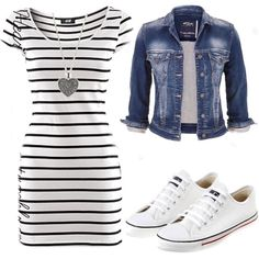 cute outfits for spring ~ cute outfits ; cute outfits for school ; cute outfits with leggings ; cute outfits for winter ; cute outfits for women ; cute outfits for school for highschool ; cute outfits for spring Green Dress Outfit, Dress Outfits, Casual Outfits, Striped Dress Outfit, Maternity Outfits, Summer Outfits With Converse, Black White Striped Dress, Summer Maternity, Maternity Styles