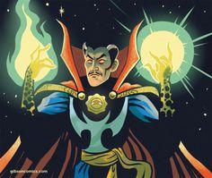 Doctor Strange - Jordan Gibson Marvel Comic Books, Marvel Art, Marvel Dc Comics, Marvel Characters, Doc Strange, Strange Tales, Strange Art, Midnight Son, Ghost Dog