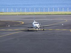 Taxiing at Horta Airport, Azores