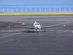 Taxiing at Horta Airport, Azores