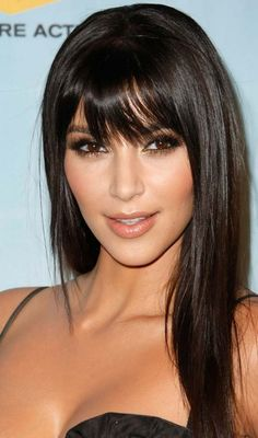 35 Long Hairstyles with Bangs - Best Celebrity Long Hair with Bangs Styles Long Haircuts With Bangs, Layered Hair With Bangs, Long Hair With Bangs, Long Hair Cuts, Hairstyles With Bangs, Straight Hairstyles, Black Hairstyles, Wispy Bangs, Bangs Hairstyle
