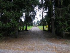Yksinäisyys... Kuva Mouhijärven hautausmaalle johtavasta tiestä. Täällä lepäävät äitini vanhemmat ja veli sankarihaudassa sekä lukuisa joukko sukulaisia...