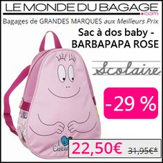 #missbonreduction; Economisez 29 % sur le Sac à dos baby - BARBAPAPA ROSE chez Le Monde du Bagage.http://www.miss-bon-reduction.fr//details-bon-reduction-Le-Monde-du-Bagage-i855311-c1829527.html