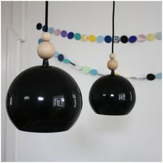 Wood beads on the lamp - a nice and cheap update.