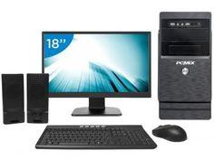 """Computador PC Mix L3300 Intel Quad Core 4GB - 500GB LED 18"""" Linux"""