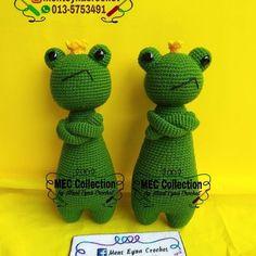 King Frog made by Ment Eyna Crochet. Crochet pattern by Little Bear Crochets: www.littlebearcrochets.com ❤️ #littlebearcrochets #amigurumi