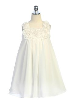 Pick 4 of 4 Like the baby doll shape, double layer, the flowers (but not the placement of them), and material.  Ivory Simple Elegant Girl Dress