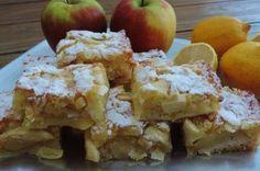 Appel citroen plaatcake; Frisse lekkernij met appels