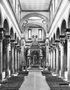Brunelleschi, Filippo: interior of Santo Spirito church