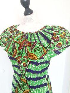 Curvy fit African wax Print dress von Urban-Apparel auf DaWanda.com